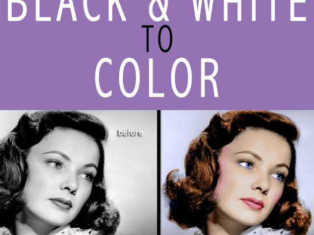 PHOTOSHOP HOW TO: FROM BLACK & WHITE TO COLOR
