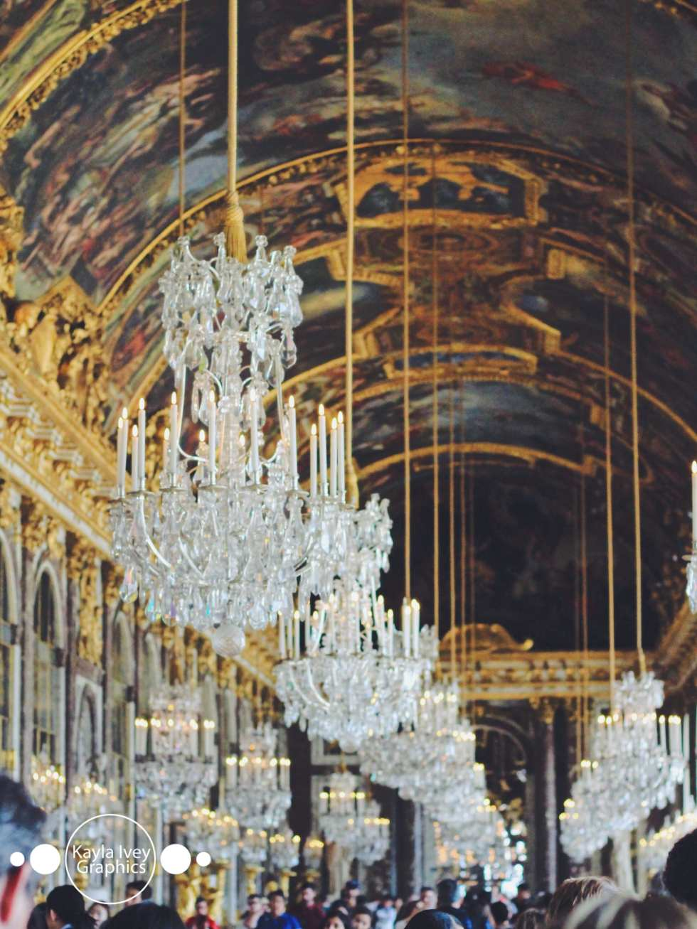 Hall of Mirrors Palace of Versailles, France Travel Photography