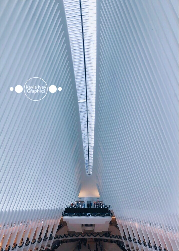 The Oculus NYC at Christmas