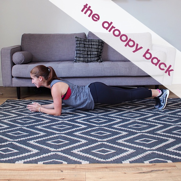 the droopy back plank