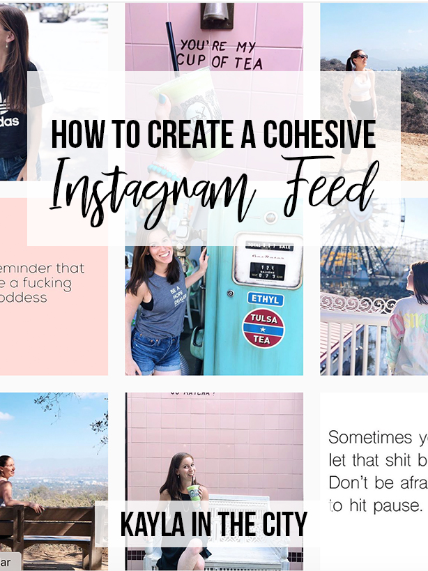 How To create a cohesive instagram feed and aesthetic.