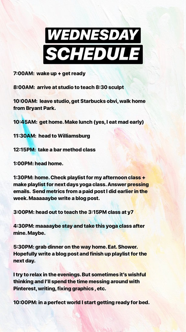 schedule 2 what it looks like to be a full time yoga teacher