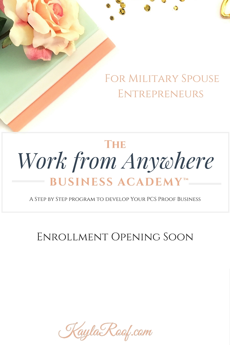 Military Spouse Entrepreneurs | The Work from Anywhere Academy is Opening Soon | Click to sign up for enrollment notification