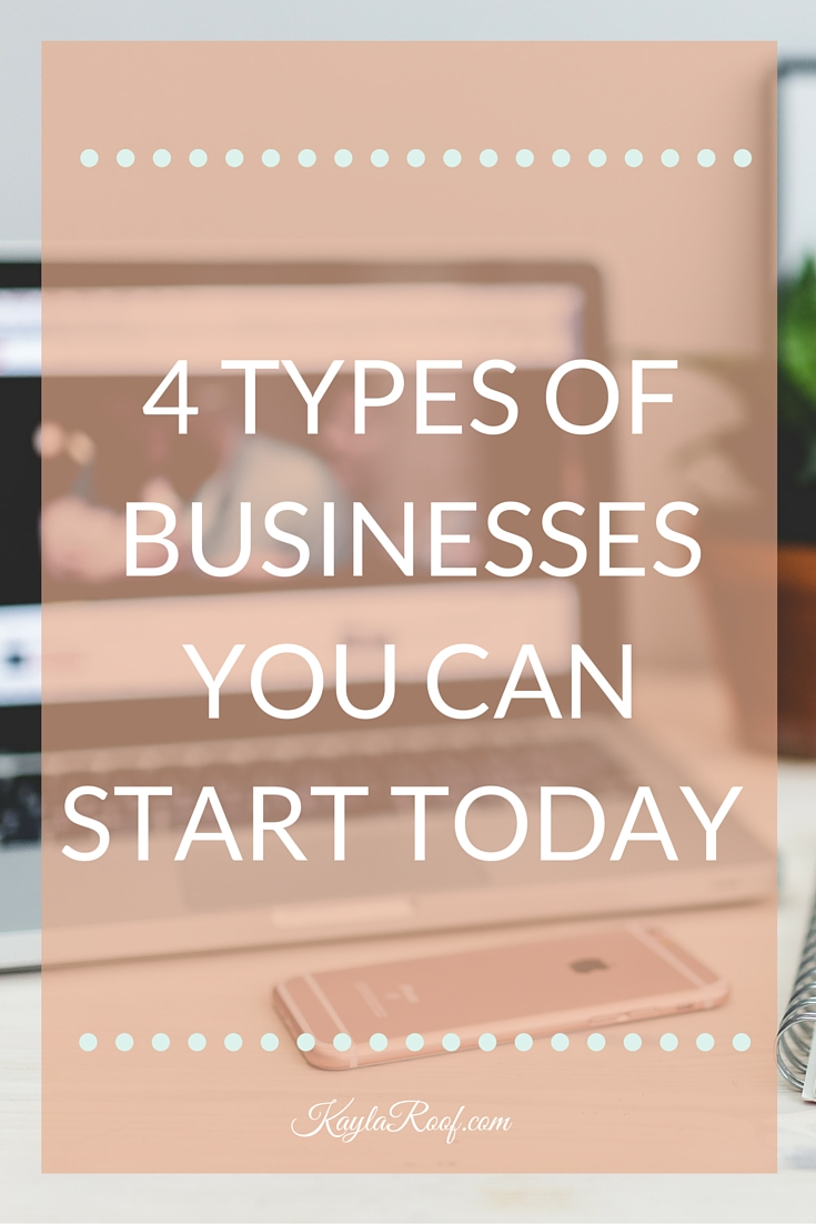 Have you ever wondered what kind of business you could start that would allow you to work from anywhere? Check out this post to find out the 4 types of businesses that will allow you to work from home. |Kayla Roof Business Advisor for Ambitious Military Spouses