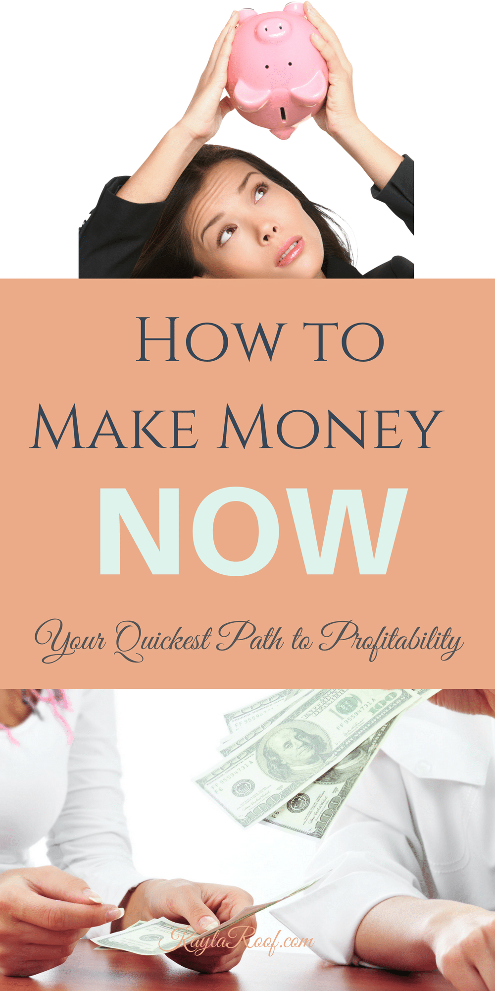 How to Make Money Now-Your Quickest Path to Profitability When Starting Your Own Business  KaylaRoof.com