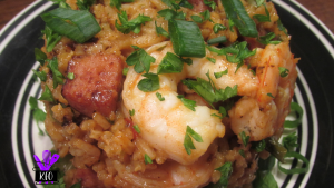 Shrimp and Sausage (andoiulle and smoked sausage), Jambalaya, creole style