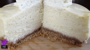Vanilla Bean mini cheesecake, interior view