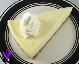 Vanilla Bean Cheesecake slice