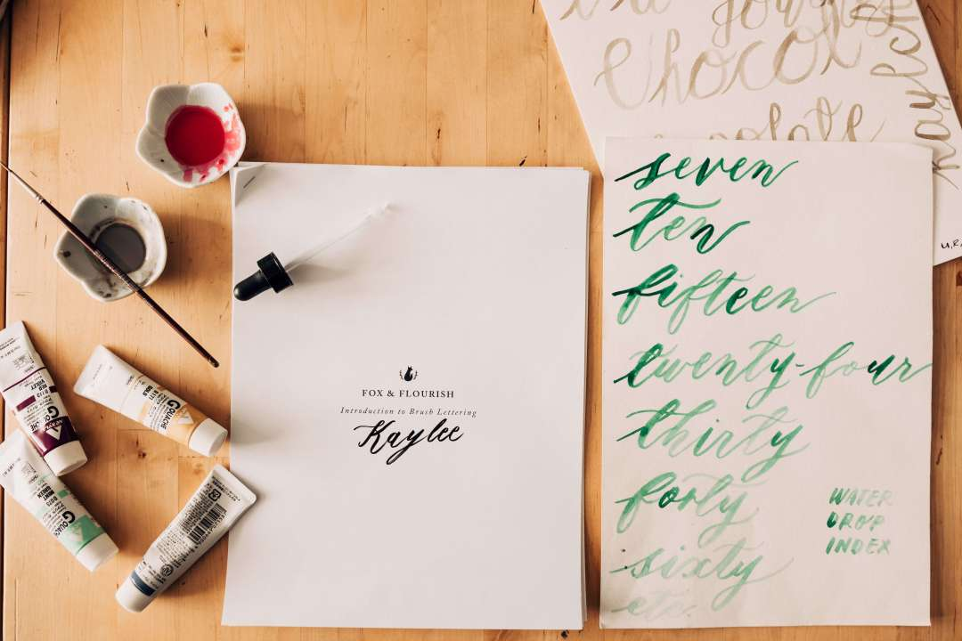 Gifts Ideas for Creative People Calligraphy Tutorial