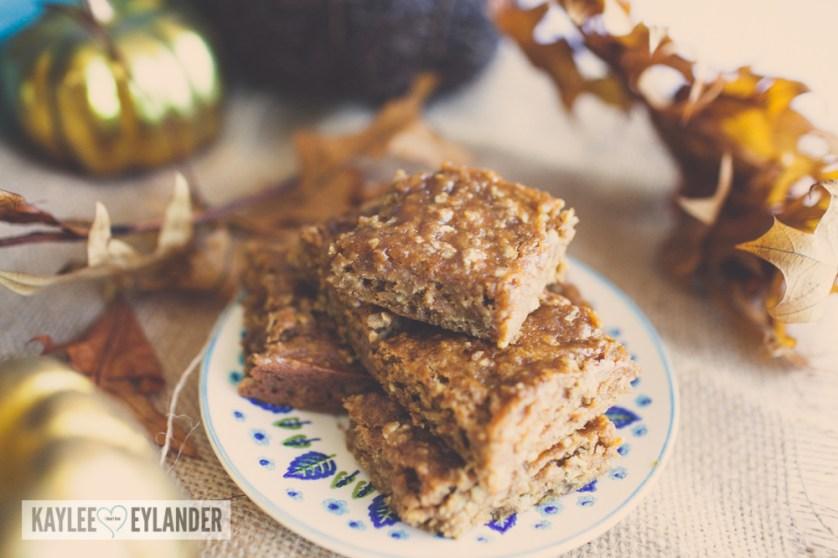 Gluten Free Pumpkin Oatmeal Walnut Bars-9