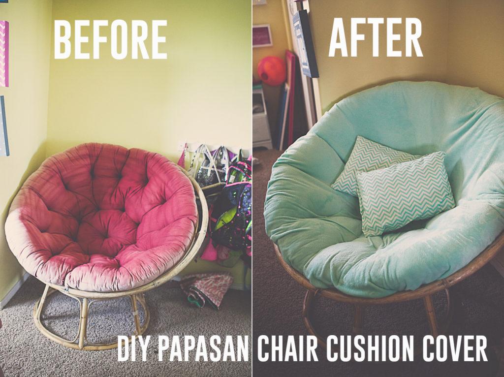 diy papasan chair cushion cover budget friendly kaylee eylander diy. Black Bedroom Furniture Sets. Home Design Ideas