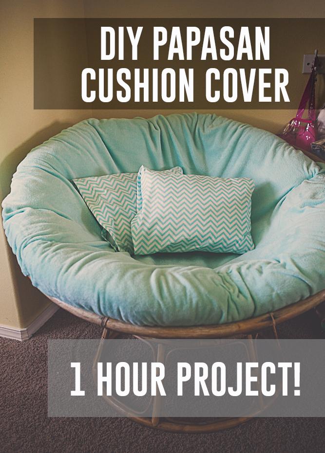 Elegant ... Papasan Chair Cushion Cover DIY Kaylee Eylander