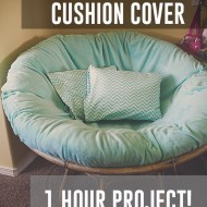 DIY Papasan Chair Cushion Cover  | Budget Friendly