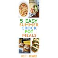 5 Summer Crockpot Meals