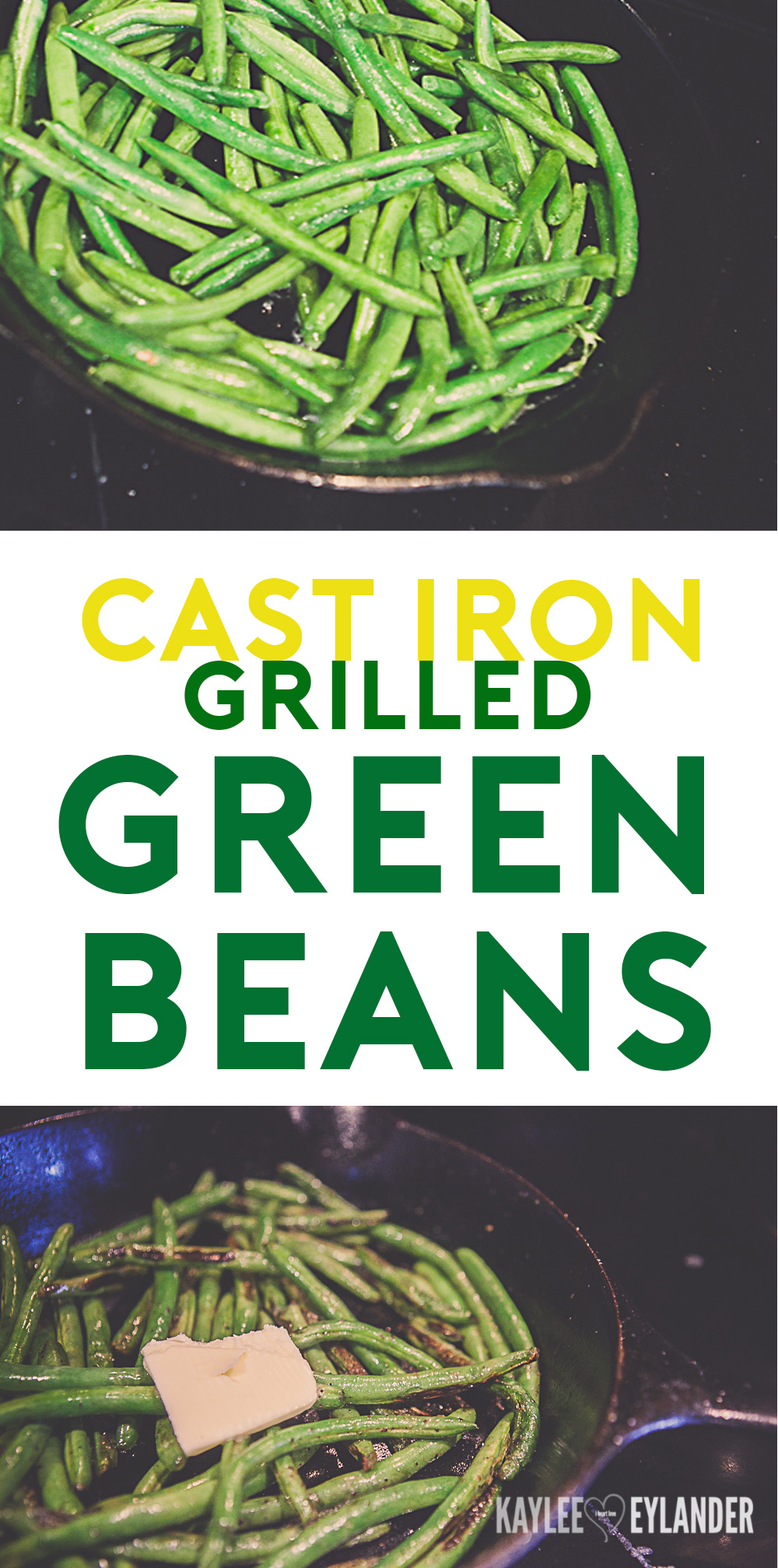 Cast Iron Grilled Green Beans Recipe