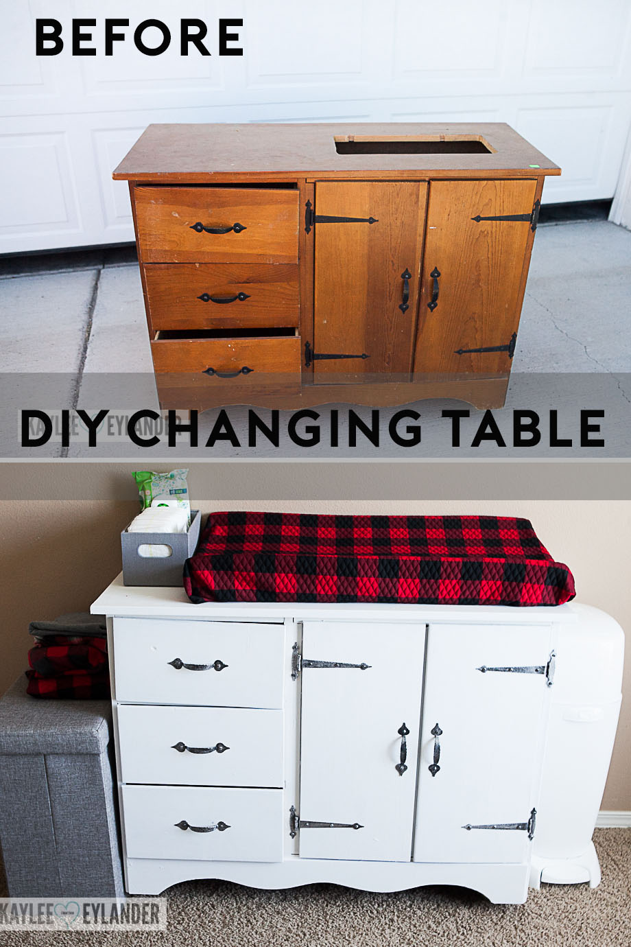 DIY Chalkpaint Changing Table Makeover