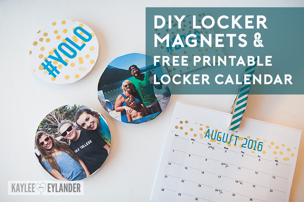 image regarding Printable Magnets called Totally free Printable Locker Calendar Do-it-yourself Locker Magnets with HP