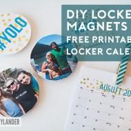 Free Printable Locker Calendar & DIY Locker Magnets with HP Printers