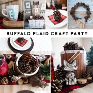 Pine Cone Wreath Tutorial | Buffalo Plaid Party