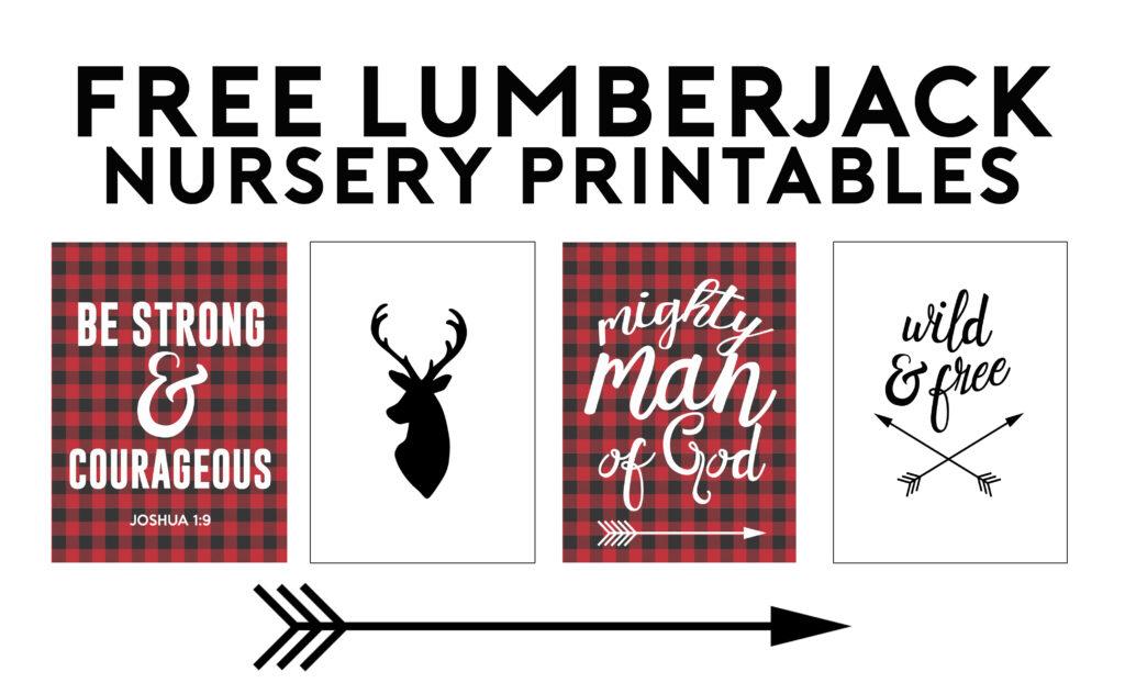 Free printables Lumberjack Nursery Verses