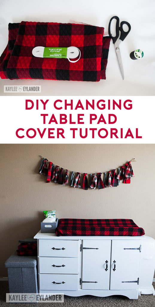 DIY Changing table pad cover tutorial