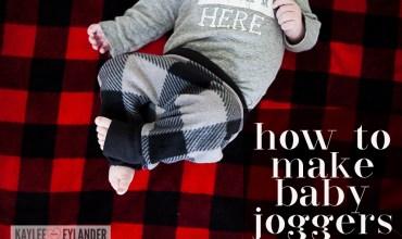 How to make Baby Joggers |  DIY Baby Harem Pants Tutorial