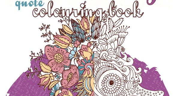 Adult Colouring Books Positively Quote Book