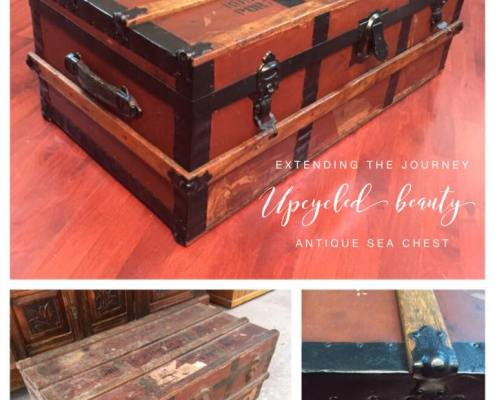 Upcycled Beauty Painted Furniture Makeovers Trunk Sea Chest