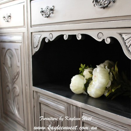 Grey and silver painted sideboard