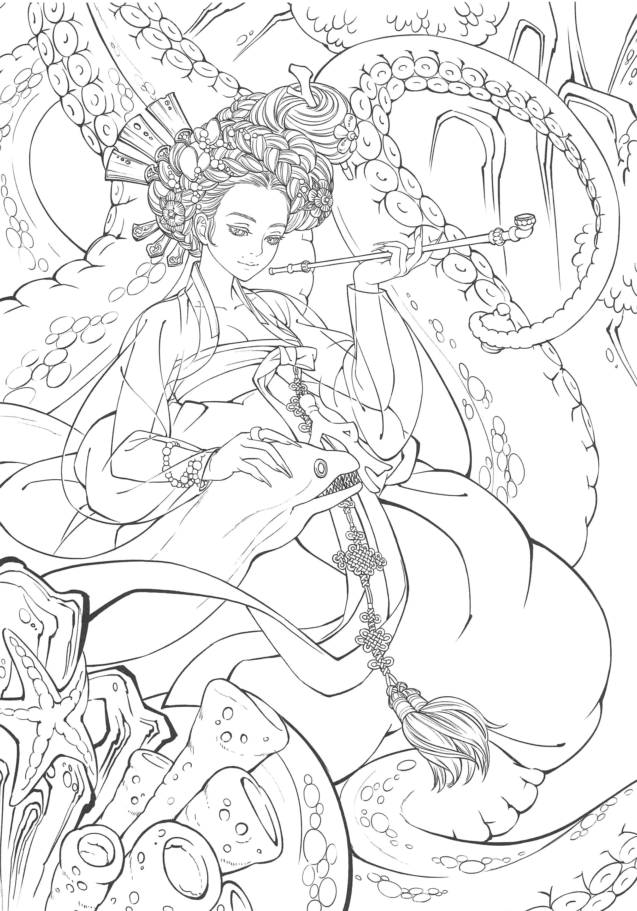 324. Korean Fairy Tales Coloring Book Vol. 1