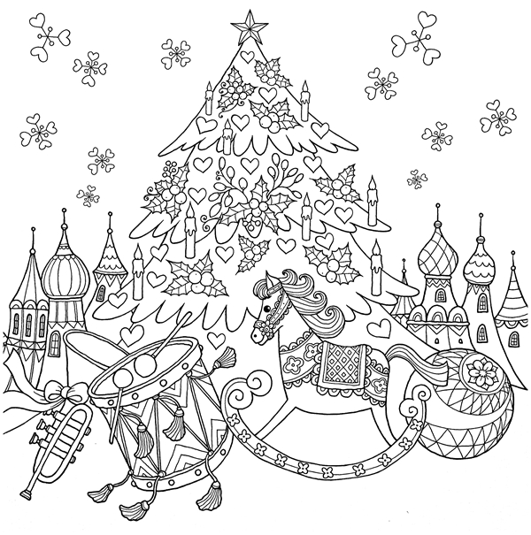Christmas Time Coloring Book