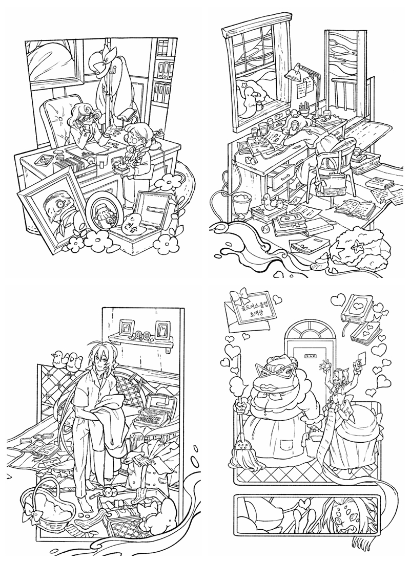524. Winter Tales Coloring Book