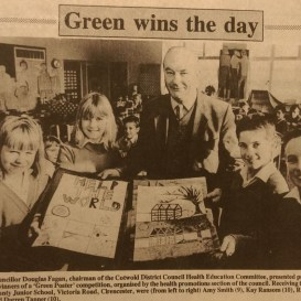 "Winner of the ""Green poster"" as a child"