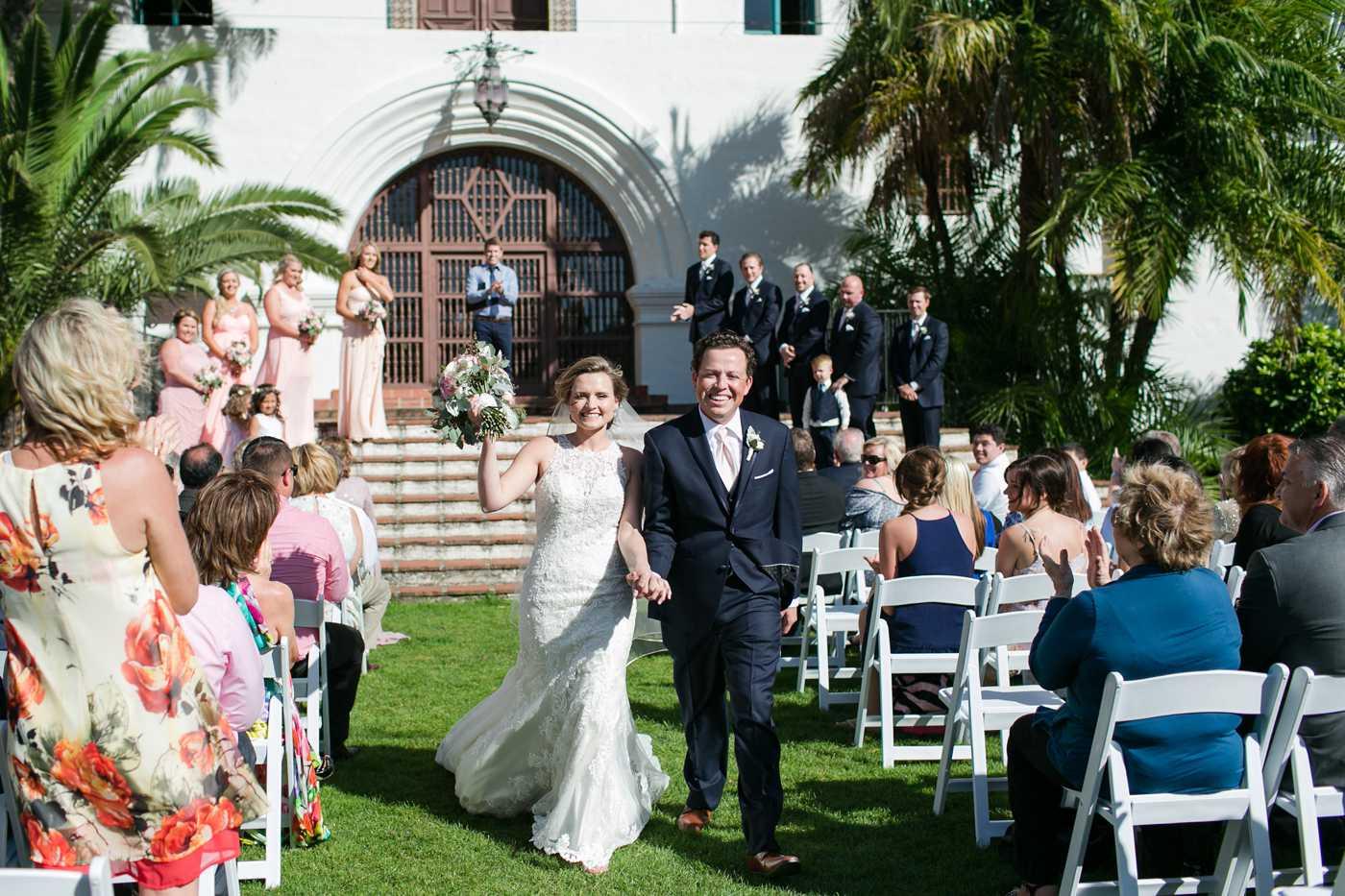 Santa Barbara Courthouse Wedding  Sarah and John  Kaysha Weiner Photographer