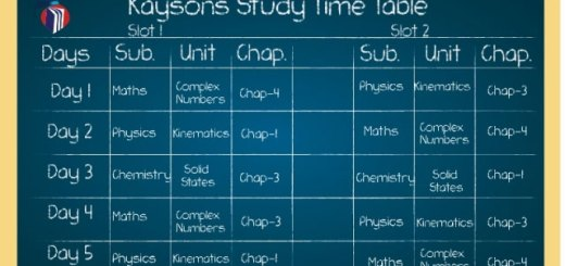 JEE-Time-table