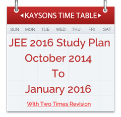 JEE TIME-TABLE-2016