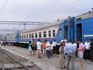 Train station in Kazakhstan