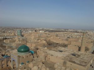 Khiva as viewed from a minaret