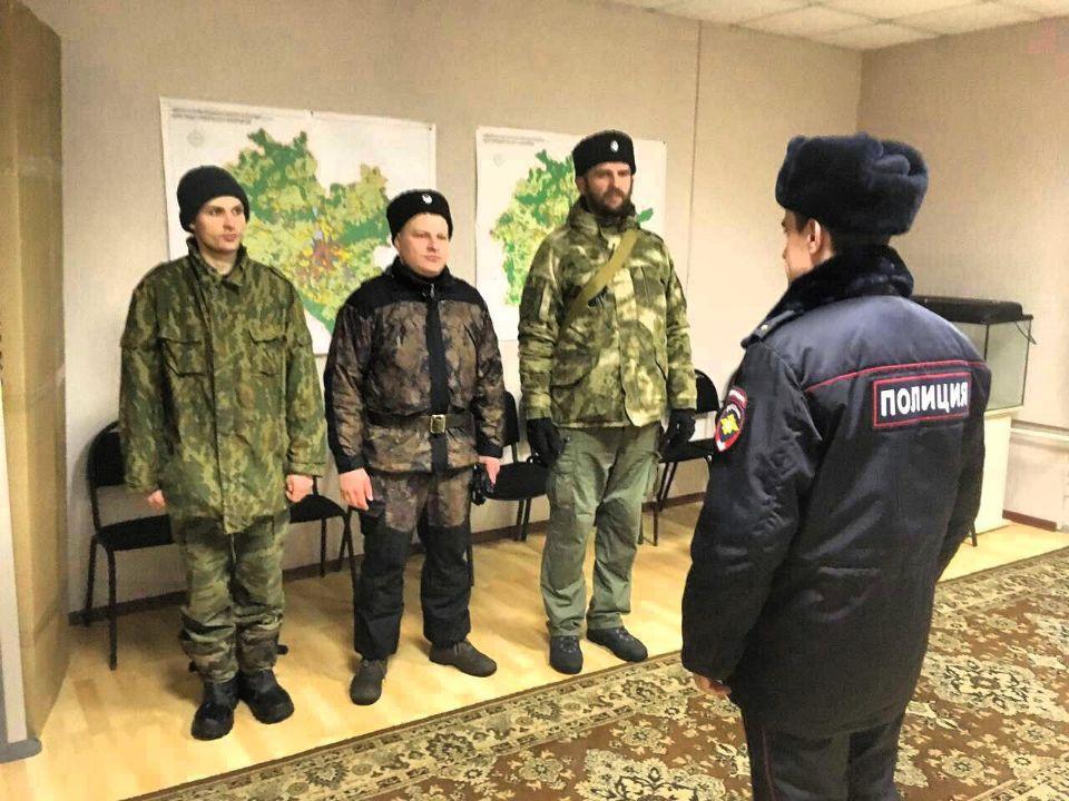 Тульские казаки продолжают нести службу по охране правопорядка в посёлке Плеханово.
