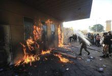 Photo of Irački demonstranti zapalili i drugi ulaz američke ambasade u Bagdadu