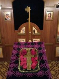 внутренний храм на Крестопоклонной неделе