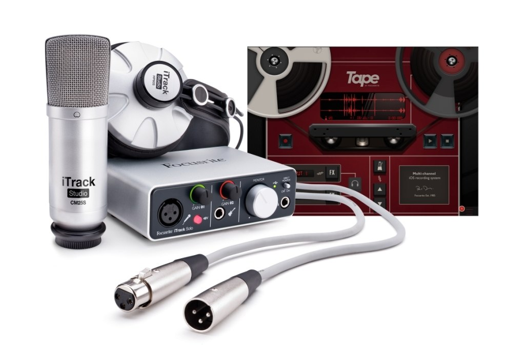 Focusrite iTrack Studio Lightning Recording Package For iPad, Mac and PC