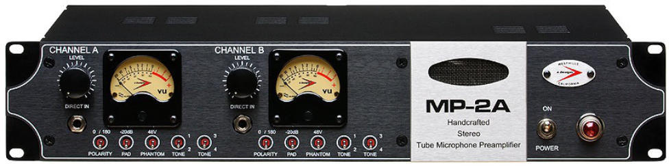 A-Designs MP-2A Stereo Tube Microphone Preamp
