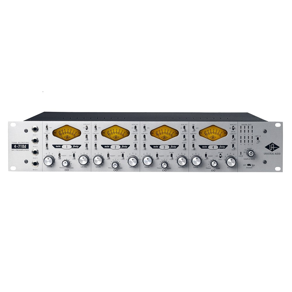 Universal Audio 4-710D 4-Channel Twin-Finity Microphone Preamp