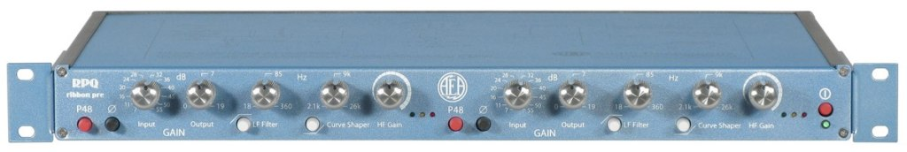 AEA RPQ Two Channel Mic Preamp with Curve Shaping and Phantom Power