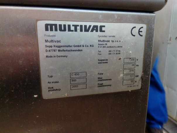 Pakowaczka próżniowa dwukomorowa Multivac C450