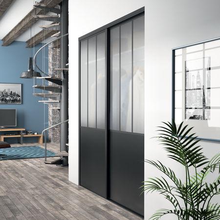 portes de placard ambiance atelier