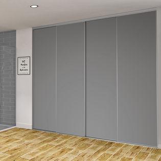 mesange 24 facade de placard coulissante 4 portes decor gris intense