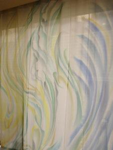 レースカーテン『虹追いかける風』