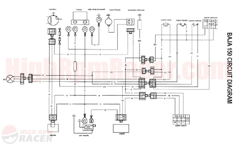 baja150_wd 90cc atv wiring diagram,atv wiring diagram images database,110cc Quad Wiring Diagram